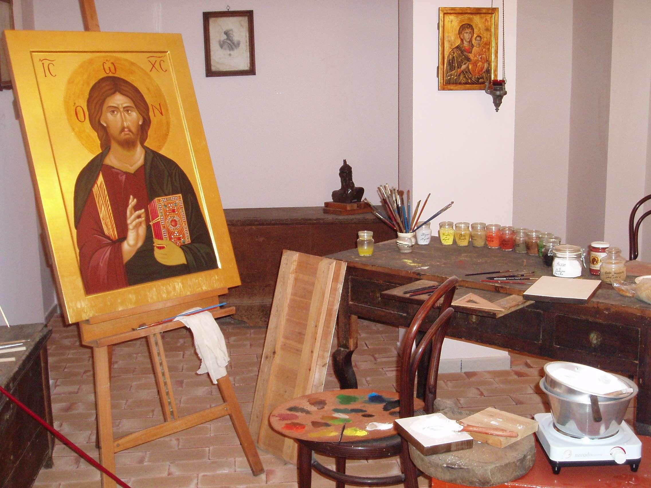 frascineto. museo delle icone bizantine laboratorio iconografico