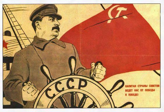Un manifesto sovietico di propaganda del periodo staliniano