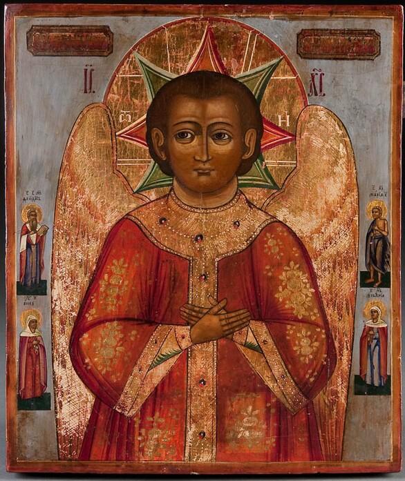 """""""Cristo del Beato silenzio"""", icona russa, tempera all'uovo su tavola, Russia centrale, fine XVIII sec."""