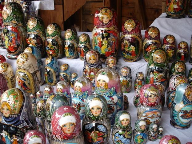 Russian Matryoshka Dolls. Moscow