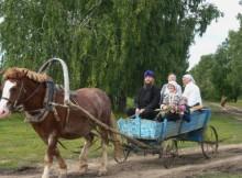 Se sei in viaggio con carretto e cavallo, puoi dare un passaggio anche ai tuoi parrocchiani