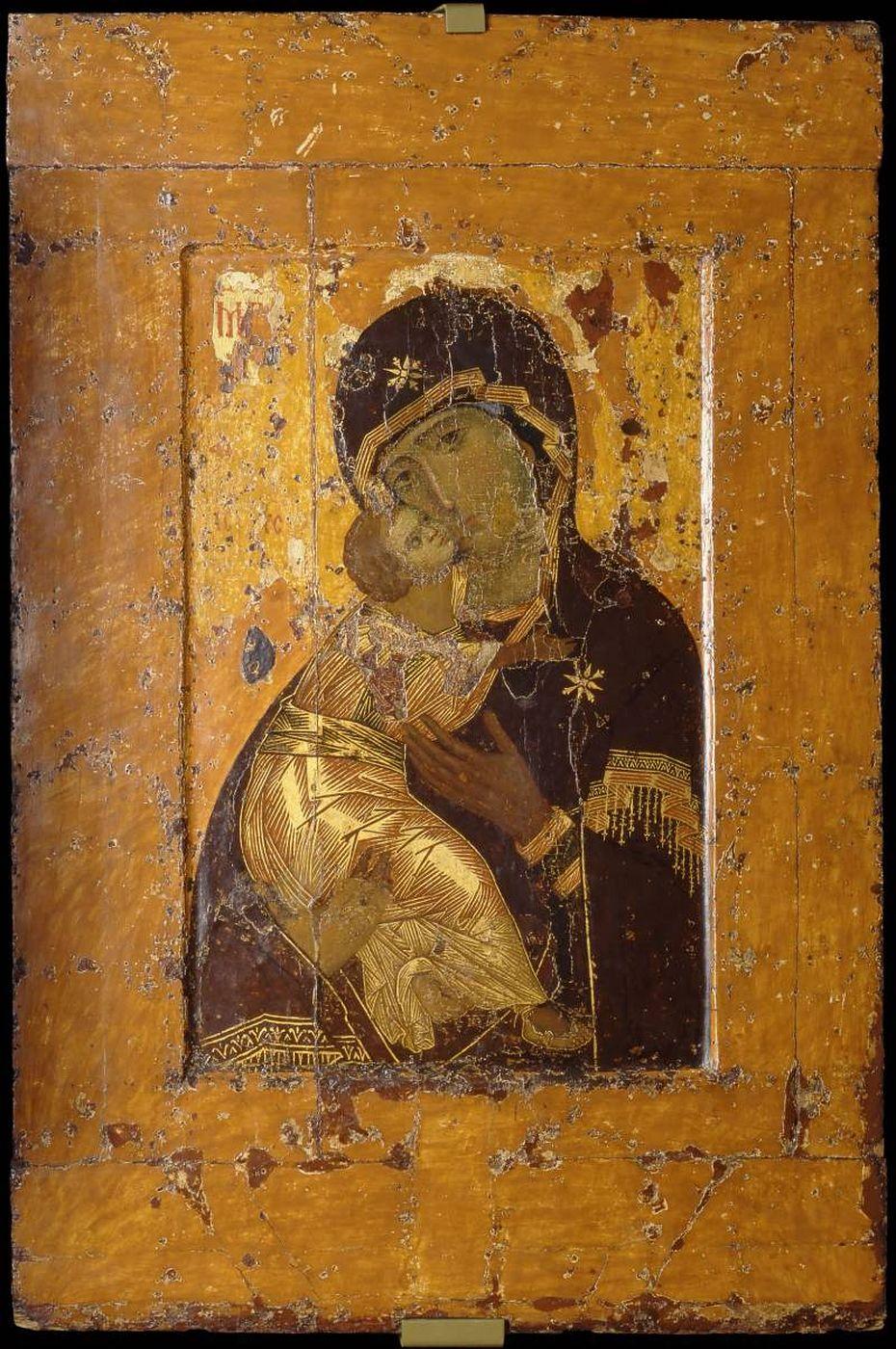 L'icona della Madre di Dio di Vladimir oggi custodita alla Galleria Tret'jakov di Mosca