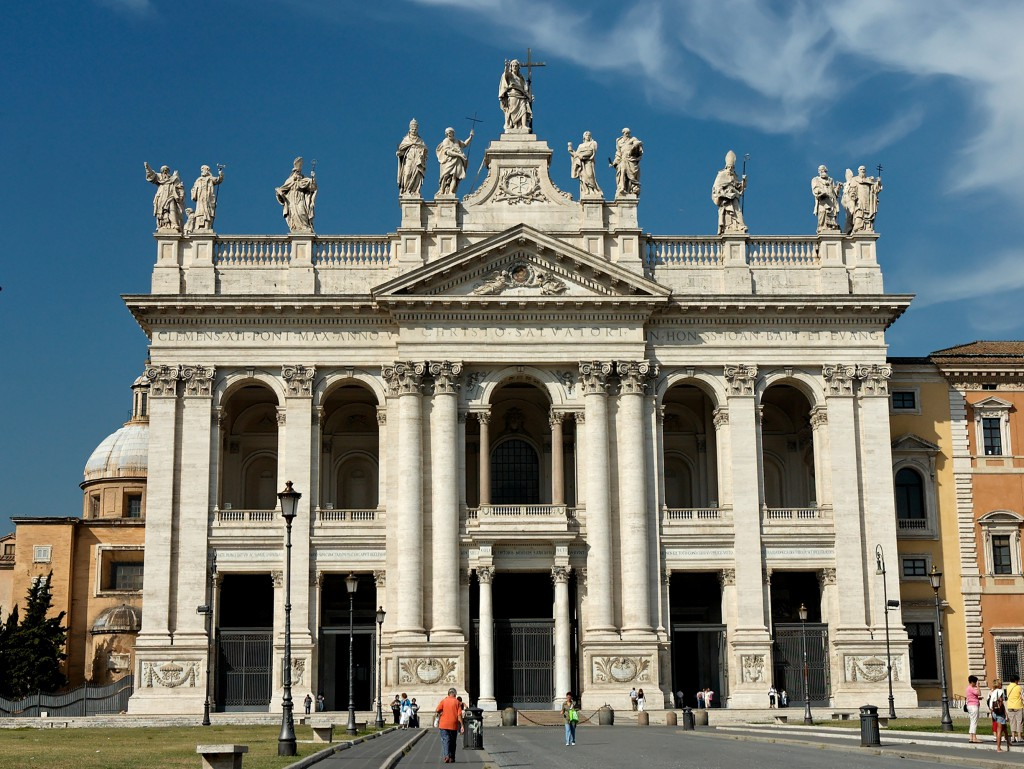 La basilica di San Giovanni in Laterano a Roma, che ha ospitato il concerto